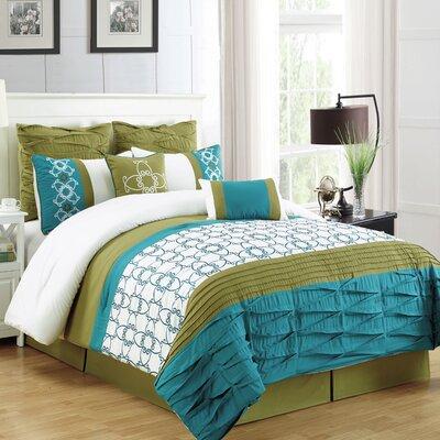 Lissy 8 Piece Comforter Set Size: King