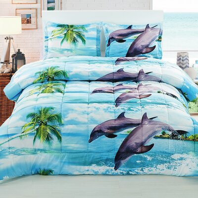 Comforter Set Size: King HOME-HAPPYDOLPHIN-3PCK1433