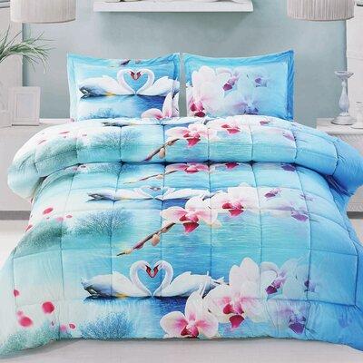 Swan Love Comforter Set Size: Twin