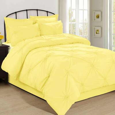 Salas 4 Piece Bed in a Bag Set Size: California King, Color: Yellow