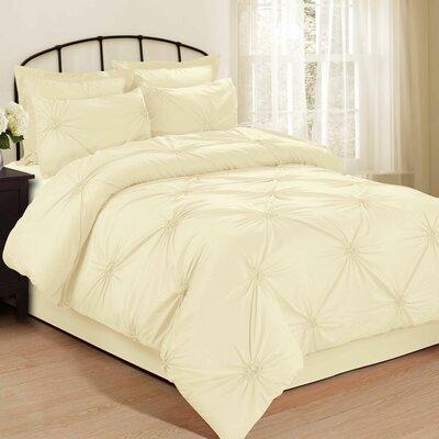 Salas 4 Piece Bed in a Bag Set Size: Queen, Color: Cream