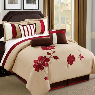 Selma 7 Piece Comforter Set Size: King
