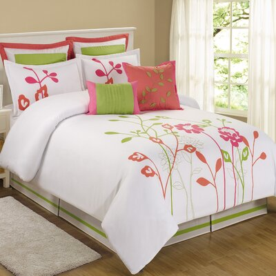 Coley 8 Piece Comforter Set Size: Queen
