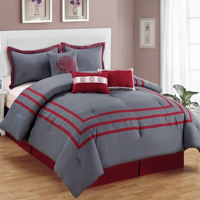 Wilshire 7 Piece Comforter Set Size: Queen