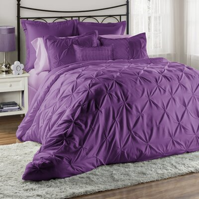 Bazarus 8 Piece Queen Comforter Set Color: Purple