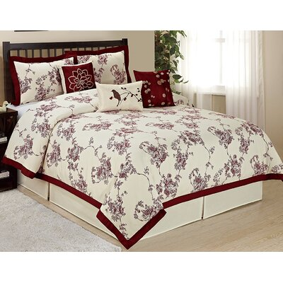 Sunrise 7 Piece Comforter Set Size: King