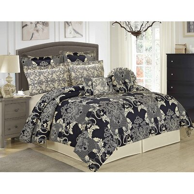 Pharley 8 Piece Comforter Set Size: King