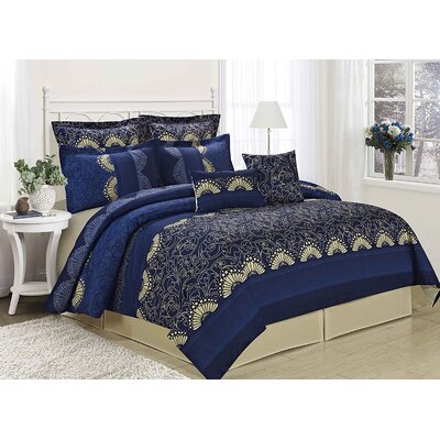 Decadence 8 Piece Comforter Set Size: King