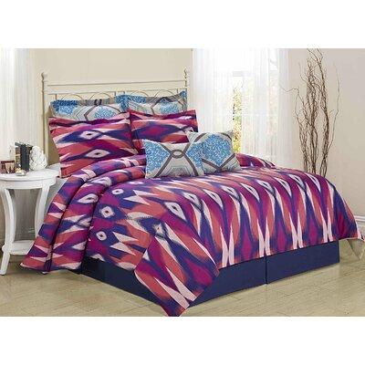 Tie-Dye 8 Piece Comforter Set Size: King