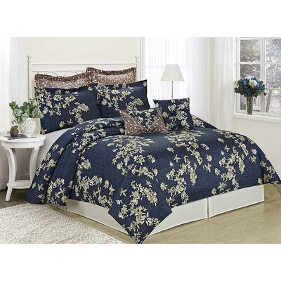 Sojourn 8 Piece Comforter Set Size: King