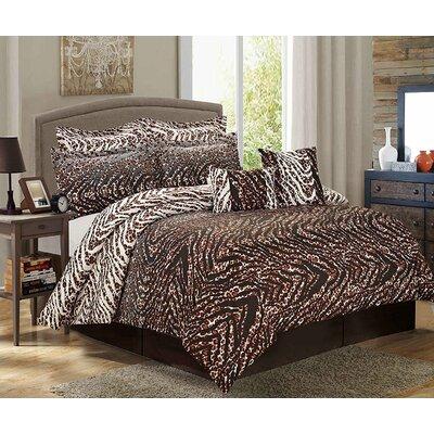 Glan 8 Piece Comforter Set Size: King