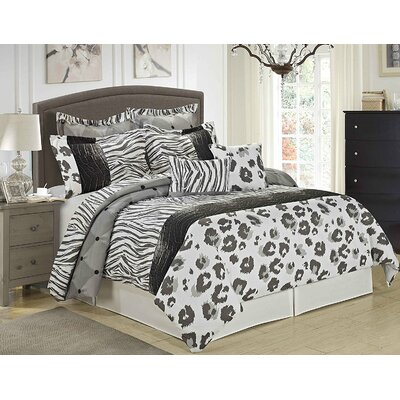 Jules 8 Piece Comforter Set Size: Queen