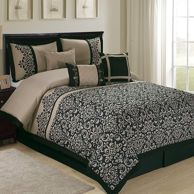 Reigna 7 Piece Comforter Set Size: King