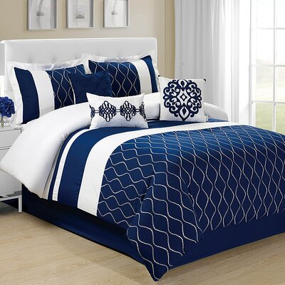 Malibue 7 Piece Comforter Set Size: King