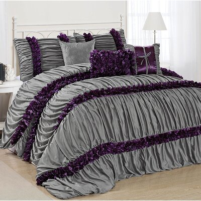 Caraline 7 Piece Comforter Set Size: King