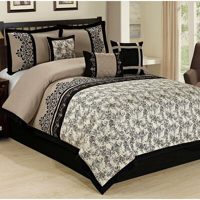 Lupei 7 Piece Comforter Set Size: King