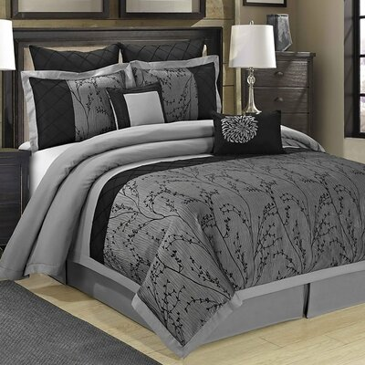Wisteria 8 Piece Comforter Set Size: Queen