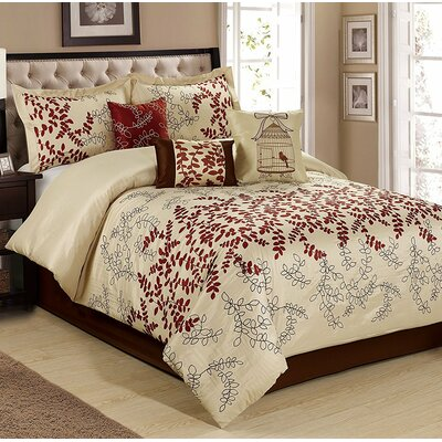 Saratoca 7 Piece Comforter Set Size: King