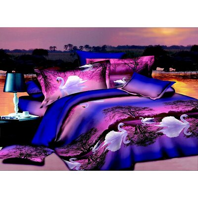 Swan 3D 4 Piece Sheet Set Size: King