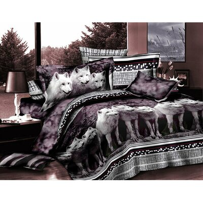 Wolf 3D 4 Piece Sheet Set Size: Queen