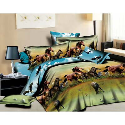 Horse 3D 4 Piece Sheet Set Size: King