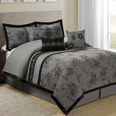 Shastai Floral 7 Piece Comforter Set Size: Queen