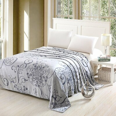 Ellen Luxurious Oversized Printed Super Soft Plush Flannel Throw
