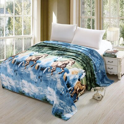 Ambrose Luxurious Oversized Printed Super Soft Plush Flannel Throw