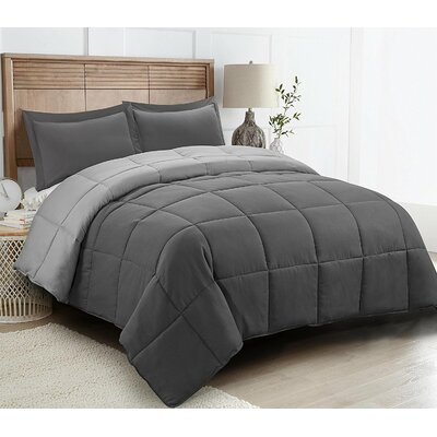 Southmont 3 Piece Comforter Set Color: Gray, Size: King