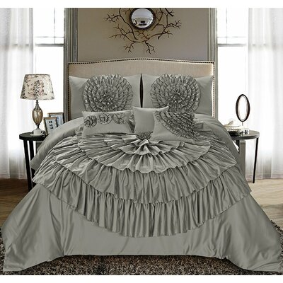 Clarkson 7 Piece Comforter Set Size: Queen
