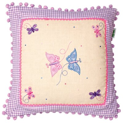 Butterfly Cottage Throw Pillow Cover