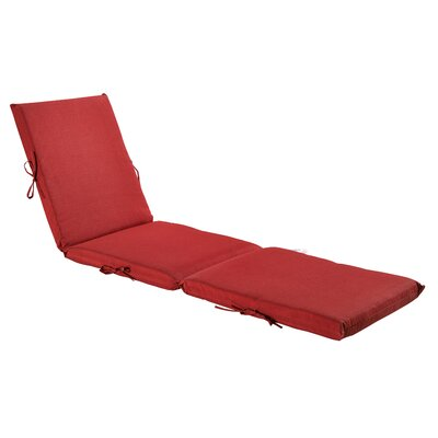 Outdoor Chaise Lounge Cushion Fabric: Rust Red