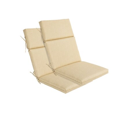 Outdoor Lounge Chair Cushion Fabric: Cream