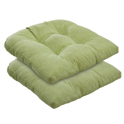 Outdoor Dining Chair Cushion Fabric: Green