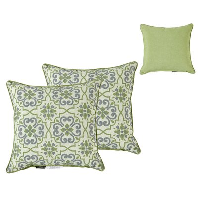 Outdoor Damask Throw Pillow
