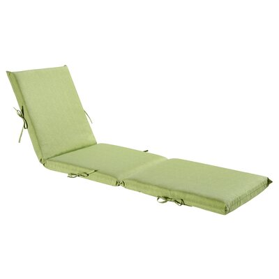 Outdoor Chaise Lounge Cushion Fabric: Green / Grey Piebald
