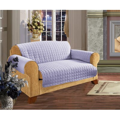 Leaf Furniture Protector Box Cushion Loveseat Slipcover Upholstery: Lilac