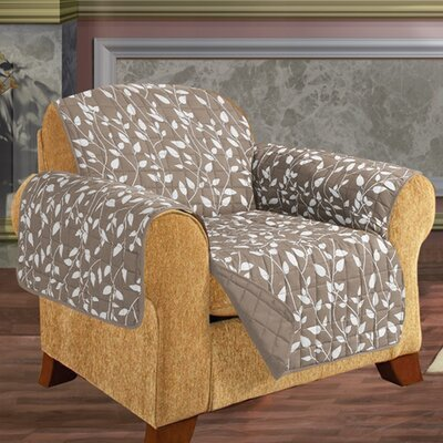 Leaf Chair Furniture Protector Microfiber Armchair Slipcover Upholstery: Natural