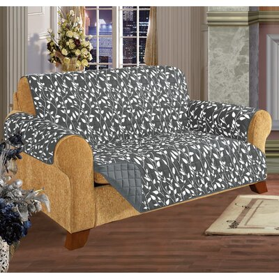 Box Cushion Sofa Slipcover Upholstery: Gray