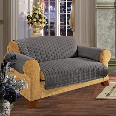 Furniture Protector Microfiber Loveseat Slipcover Upholstery: Gray
