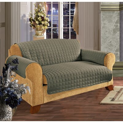 Furniture Protector Box Cushion Loveseat Slipcover Upholstery: Green