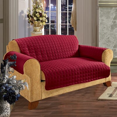 Furniture Protector Box Cushion Loveseat Slipcover Upholstery: Red