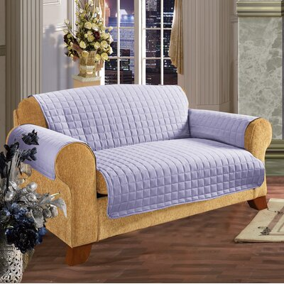 Furniture Protector Box Cushion Loveseat Slipcover Upholstery: Lilac