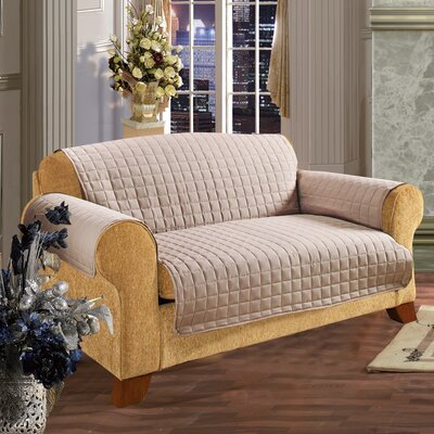 Furniture Protector Microfiber Loveseat Slipcover Upholstery: Natural