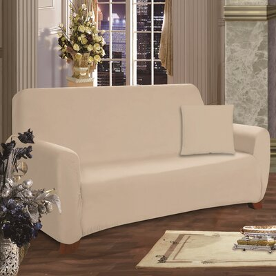 Sofa Box Cushion Slipcover Upholstery: Cream