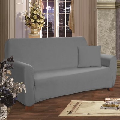 Sofa Box Cushion Slipcover Upholstery: Gray