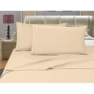 Riam Split Twin XL Sheet Set Color: Cream