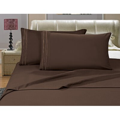 Riam Split Twin XL Sheet Set Color: Brown