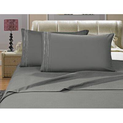 Riam Split King Sheet Set Color: Gray