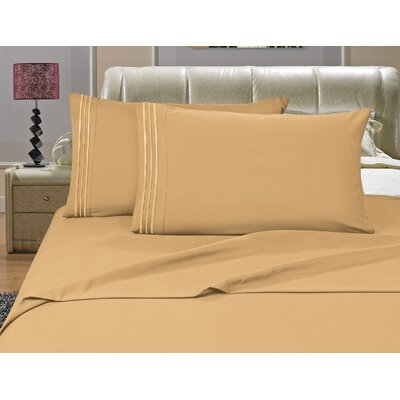 Riam Split Twin XL Sheet Set Color: Gold